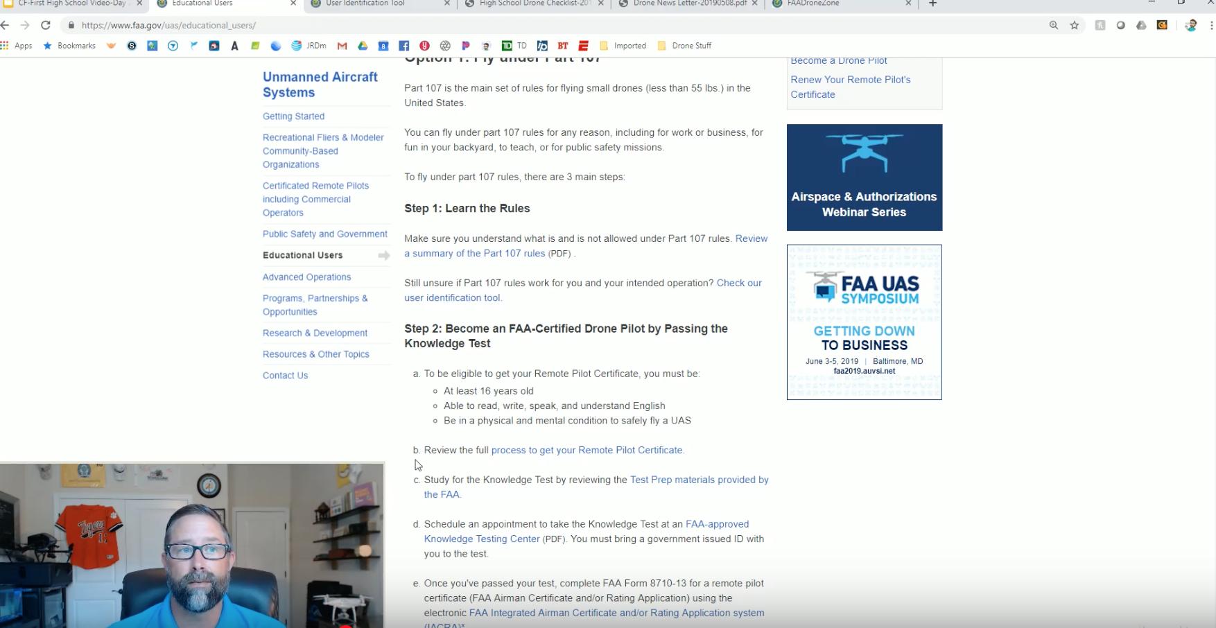 Drone Use In Schools Video 2 – FAA Regulations